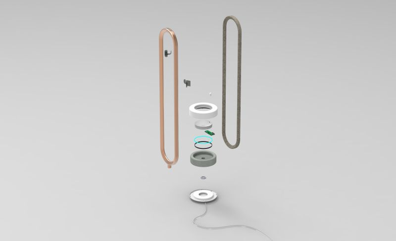 Ellipse: Smartphone-Controlled Freestanding Radiator