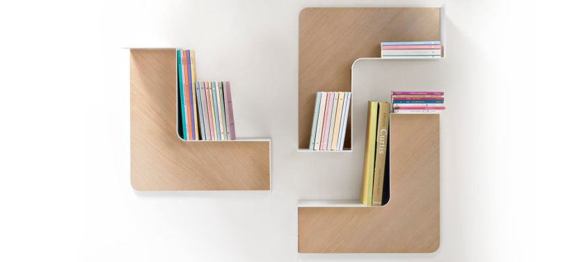 Fishbone modular shelf by Favaretto & Partners