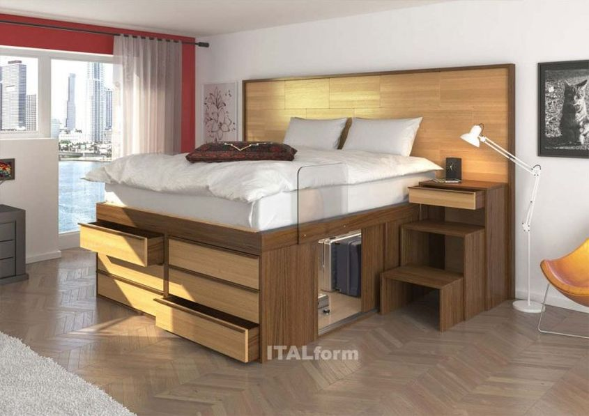 Impero storage beds from ITALform design