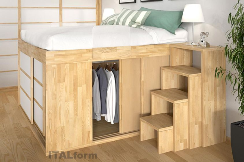 Impero storage beds from italform design for Space saving bedroom furniture ideas