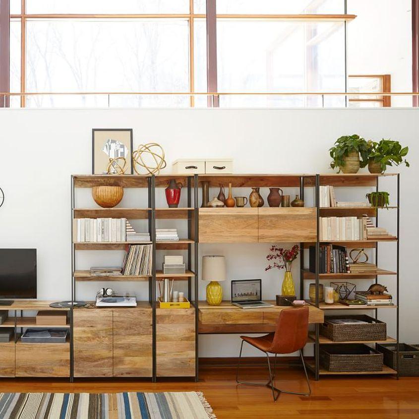 Industrial modular bookshelf from West Elm