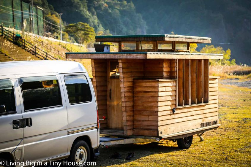 Japanese style tiny house on wheels