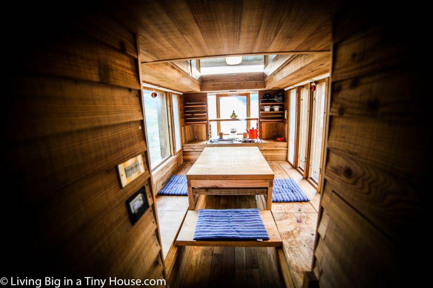 Japanese style tiny house on wheels
