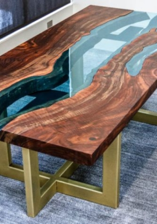 John Malecki's DIY Live Edge Walnut Slab River Table