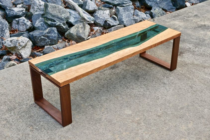 Live edge river coffee table by Crafted Workshop