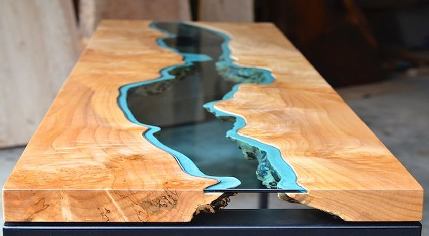 20 best live edge coffee tables designs images for Table design river
