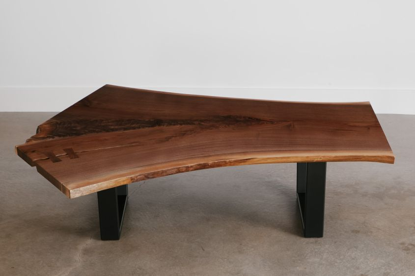 Live edge walnut coffee table from Elko Hardwoods