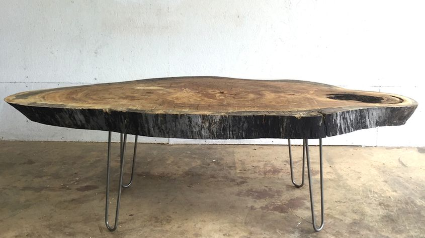 Giant live edge coffee table by Modern Builds