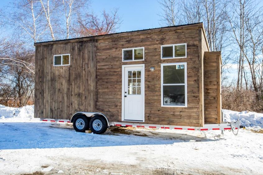 Modern tiny house on wheels from Global Tiny Houses
