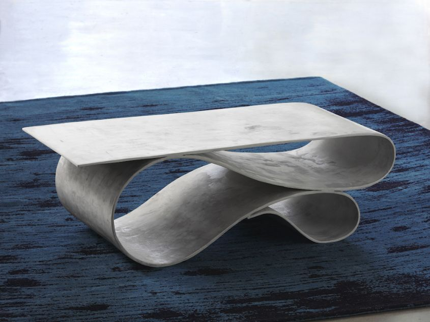 Neal Aronowitz S Whorl Table Is Made Out Of Concrete Canvas