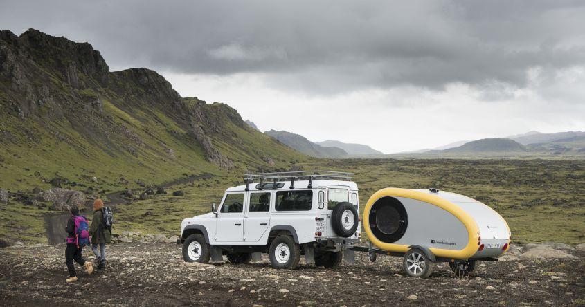 Rent Mink Teardrop Trailer to Glamp Around Icelandic Landscapes
