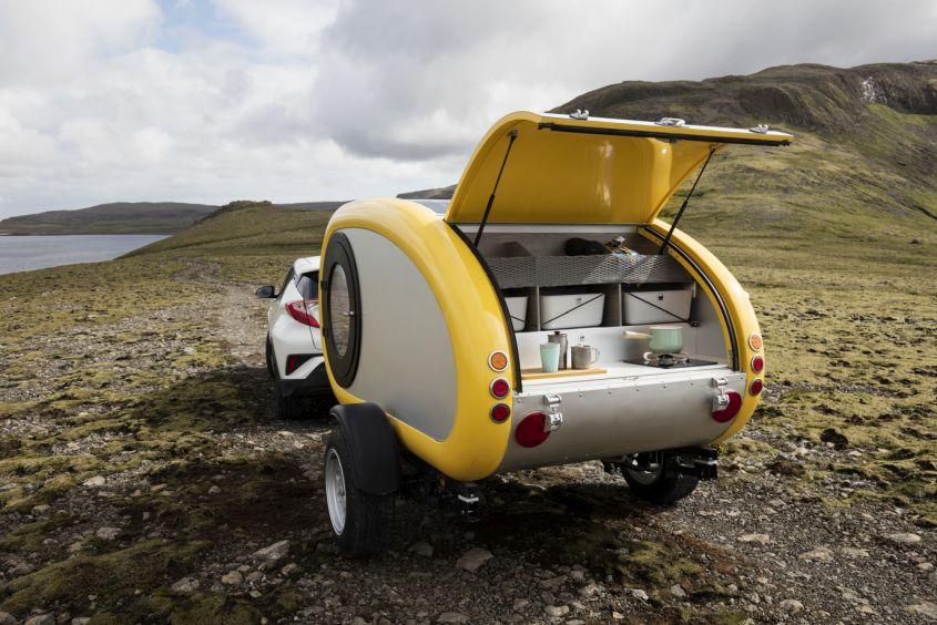 Rent Mink Teardrop Trailer To Glamp Around Icelandic