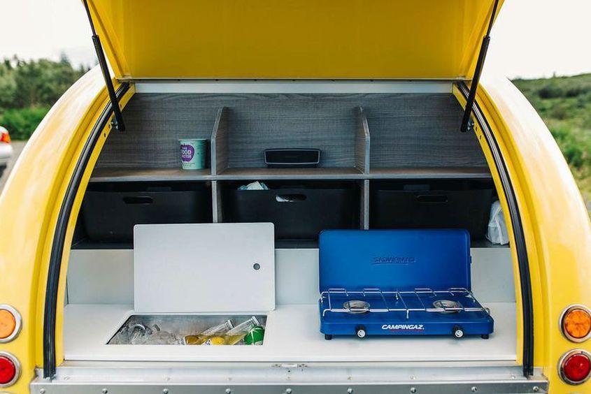 rent mink teardrop trailer to glamp around icelandic. Black Bedroom Furniture Sets. Home Design Ideas