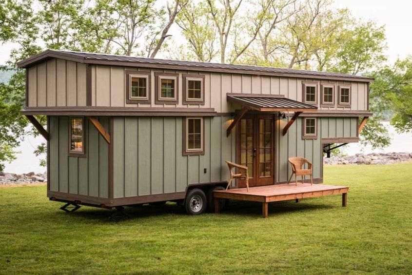 Retreat tiny house on wheels