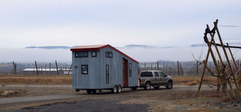 Shed tiny house on wheels from Shedsistence