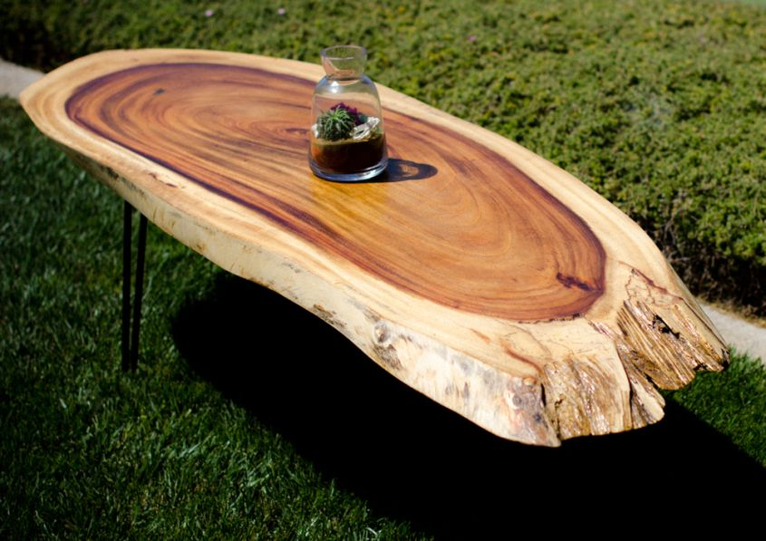 Tavarua live edge coffee table from Timber Library