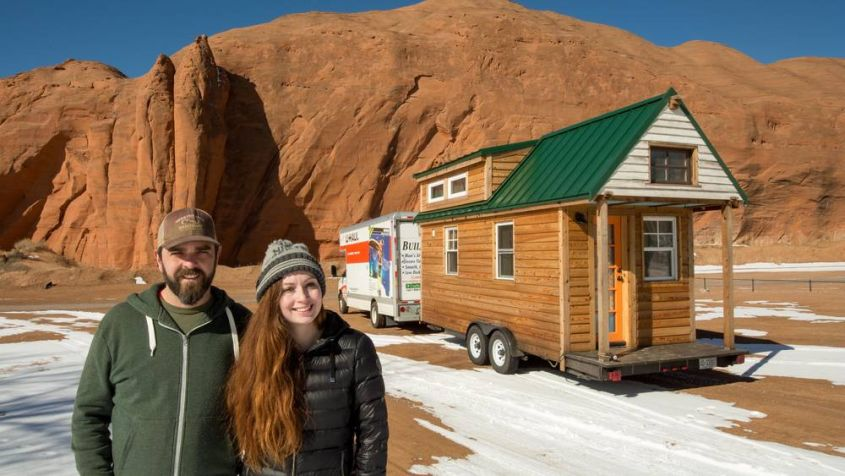 Tiny house on wheels by Alexis Stephens and Christian Parsons