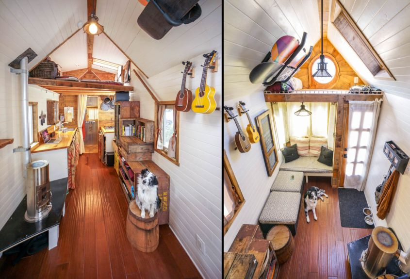 Tiny house on wheels by Guillaume Dutilh and Jenna Spesard
