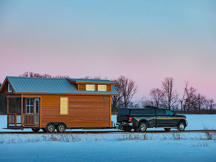 Tradition tiny house on wheels by Escape Traveler