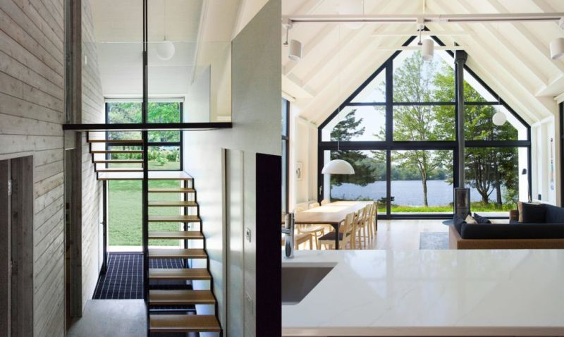 YH2 Architecture Cabin House on Lake Shore