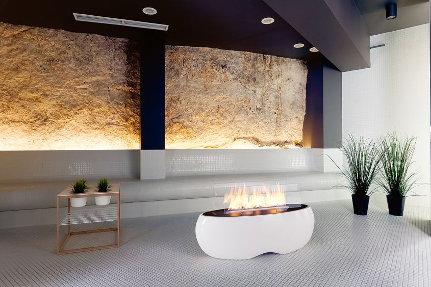 Zen freestanding bio-ethanol fireplace by Planika
