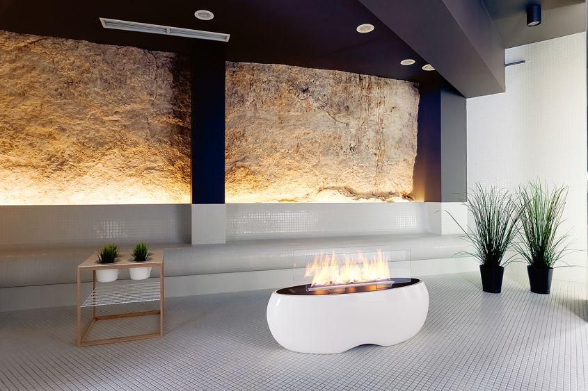 Zen freestanding bio-ethanol fireplace by Planika