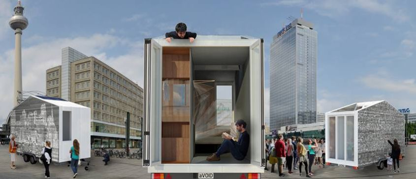 aVOID mobile tiny house with transforming interiors creates flexible living space