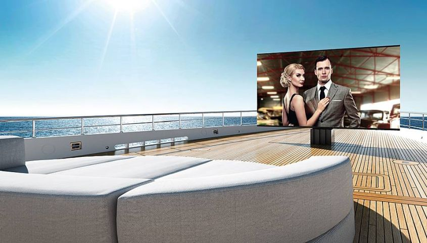 C SEED Unveils Retractable Outdoor TV for Superyachts