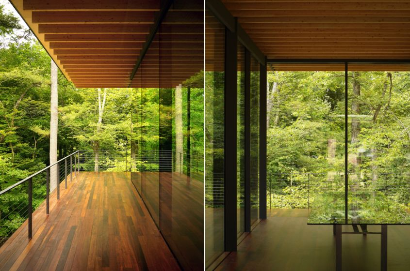 Glass-Wood House by Kengo Kuma