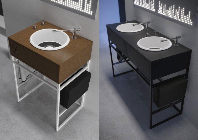 Olympia Ceramica Exhibiting Vinyl-Inspired washbasin at Salone Del Mobile 2018