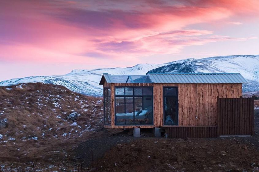 Panorama Glass Lodge in Iceland Lets You Doze Off Under Northern Stars