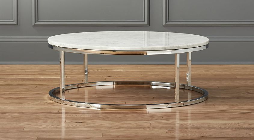 Round marble coffee table from Mobital