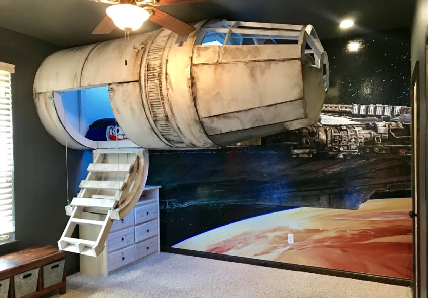 Dad Builds Millennium Falcon Bed For His Kid (Pictures)