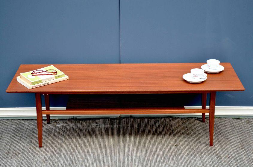 Vintage two tear teak coffee table