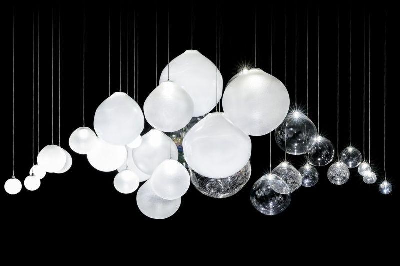 This Interactive Lighting Installation Glows and Dims with Your Breath