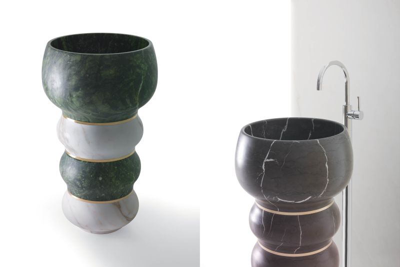 Bubbles washbasin by Marco Piva for Kreoo