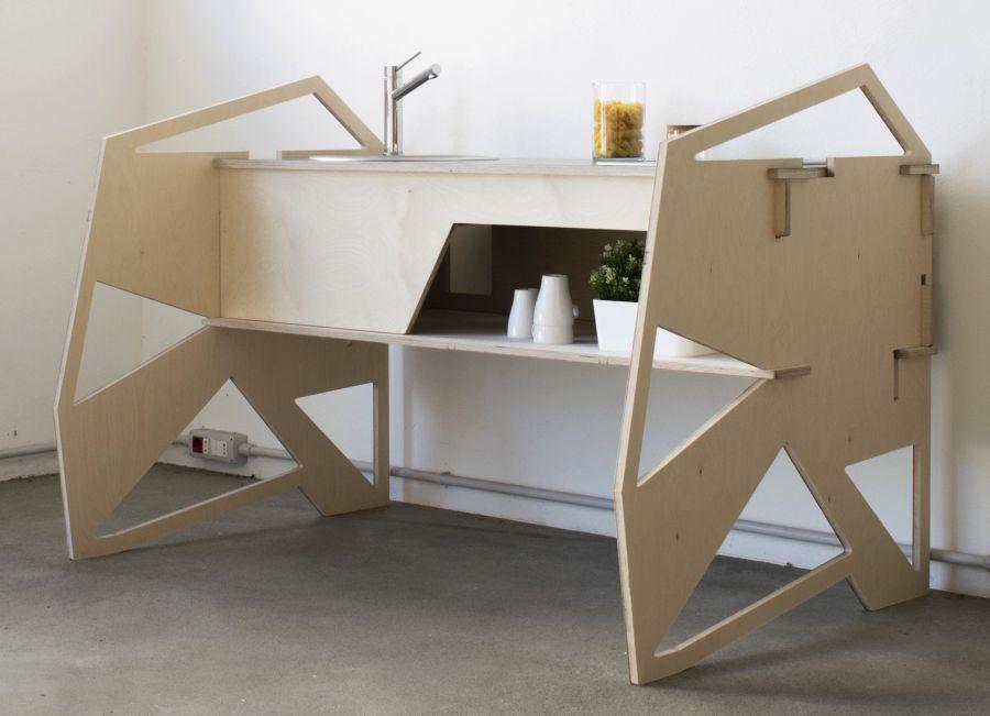 Flat pack kitchen countertop