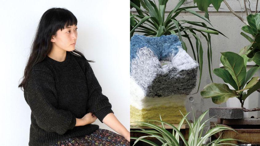 Eriko Yokoi's recycled fiber soil planter
