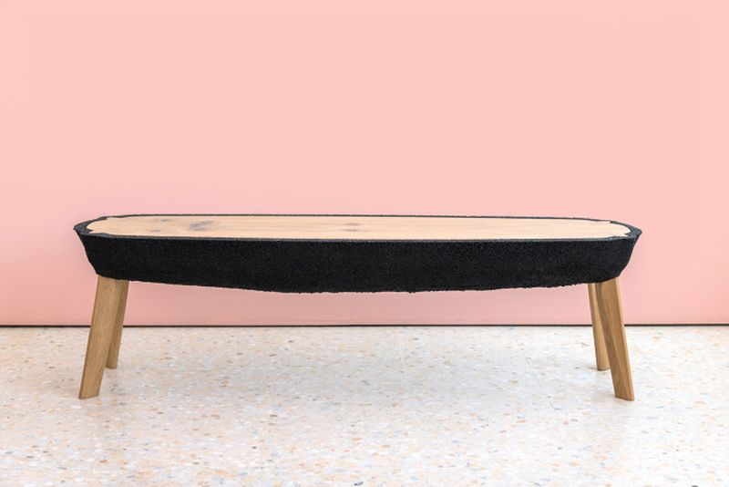 Fikra Tables by Ammar Kalo are Made From Recycled Rubber Crumbs