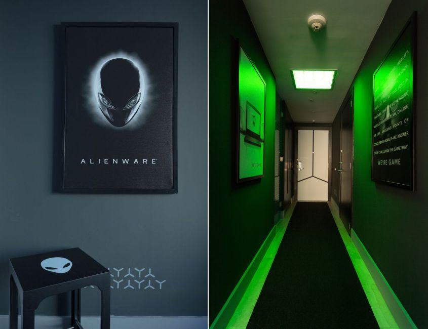 Hilton Panama Alienware Room - Gaming hotel room