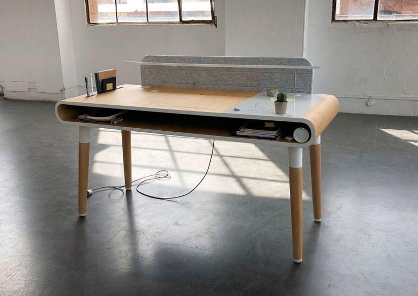 kollen design exhibits eget work desk at salone del mobile 2018