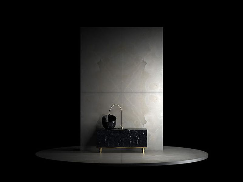 Marmi Serafini's Black Marble Washbasin Completes Your Modern Bathroom
