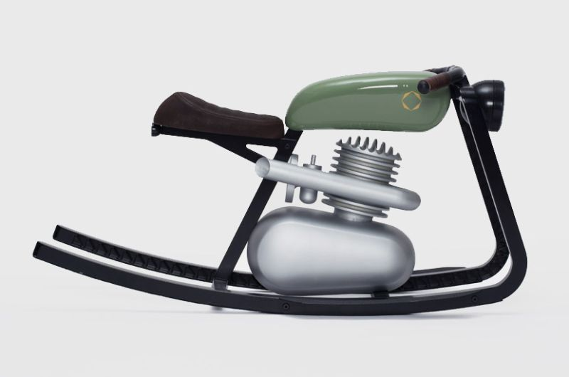 Moto rocker by felix monza for your little riders for Scooter rocking horse