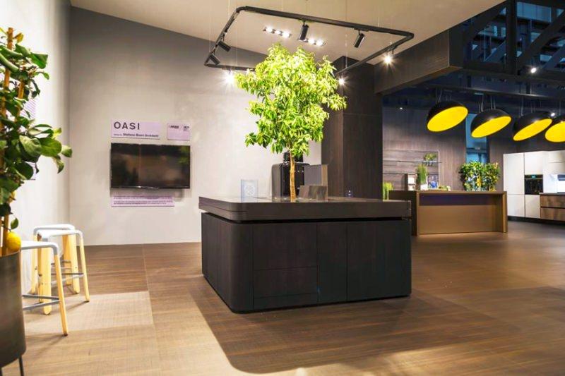 Oasi Freestanding Kitchen Island by Stefano Boeri Architetti at Milan Design Week 2018