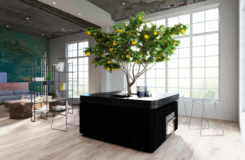 Oasi Freestanding Kitchen Island by Stefano Boeri Architetti