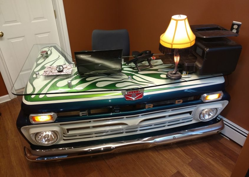 Pickup Truck Office Desk by Blue Sky Performance and Restoration