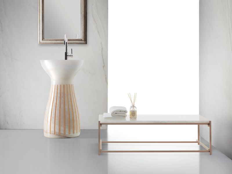 Roma washbasin by Marco Piva for Kreoo