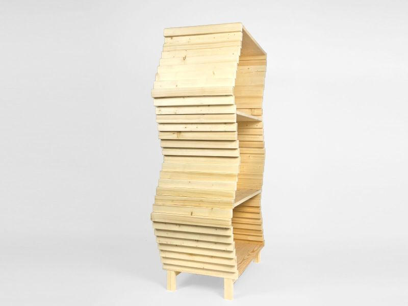 Studio Lorier Launching Shape-Changing Wave Bookshelf at Salone Satellite