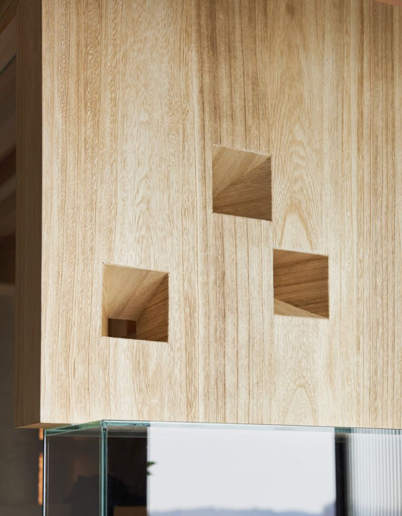 This Wood and Glass Enclosure by INDOT is a Lounge Area Dedicated to Cats