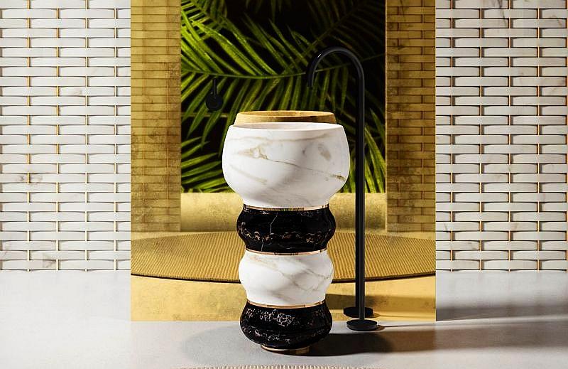 marble washbasin designs at salone del mobile 2018